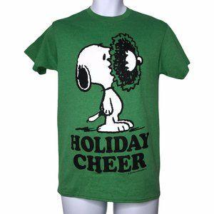 NWT Peanuts Snoopy Christmas Holiday Cheer Shirt M